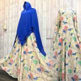 Spesifikasi Adzra Sale Promo Gamis Murah Gamis Wanita Busana Muslim Charina Dress Cream Adzra Terbaru