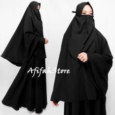 Afifahstore Syari Cadar / Gamis Syari / Gamis Wanita/ Pakaian MuslimGamis Busui / Dress Muslimah / Dress Gamis / Hijab Syari / Gamis Cadar Gamis Wolly Crepe