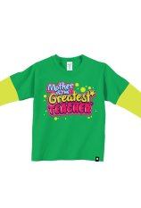 Beli Barang Afrakids Af134 Kaos Anak Muslim Mother Is The Greatest Teacher Hijau Online