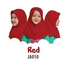 Aria Hijab Anak Afrakids / Hijab Instan Anak / Jilbab Instan Anak Sekolah  / Jilbab Anak SD / JA010 - Merah