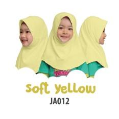 Aria Hijab Anak Afrakids / Hijab Instan Anak / Jilbab Instan Anak Sekolah / Jilbab Anak SD / JA012 - Kuning