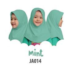 Aria Hijab Anak Afrakids / Hijab Instan Anak / Jilbab Instan Anak Sekolah / Jilbab Anak SD / JA014 - Mint