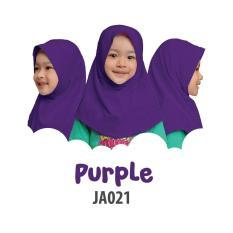 Aria Hijab Anak Afrakids / Hijab Instan Anak / Jilbab Instan Anak Sekolah / Jilbab Anak SD / JA021 - Ungu