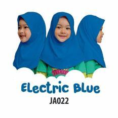 Aria Hijab Anak Afrakids / Hijab Instan Anak / Jilbab Instan Anak Sekolah / Jilbab Anak SD / JA022 - Electric Blue