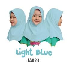 Aria Hijab Anak Afrakids / Hijab Instan Anak / Jilbab Instan Anak Sekolah / Jilbab Anak SD / JA023 - Light Blue