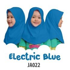 Afrakids Jilbab hijab anak instan premium Electrik Blue - JA022