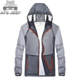 Review Afs Jeep Men S Outdoor Ultra Thin Skin Pakaian Bernapas Tabir Surya Cepat Kering Jaket Grey Intl Tiongkok