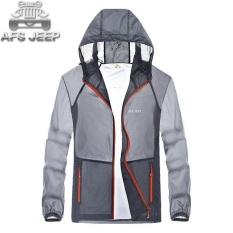 Jual Afs Jeep Men S Outdoor Ultra Thin Skin Pakaian Bernapas Tabir Surya Cepat Kering Jaket Grey Intl Ori