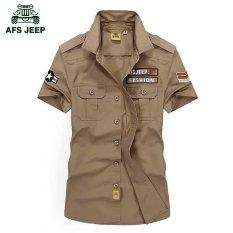 Spesifikasi Afs Jeep Men S M 5Xl Murni Cotton T Shirt Warna Khaki Intl Yang Bagus Dan Murah