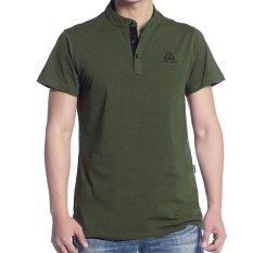 Jual Afs Jeep Pria Musim Panas Katun Longgar Lengan Pendek T Shirt Green Intl Baru