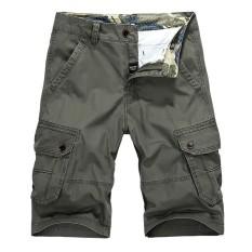 AFS JEEP Militer Casual Vintage Multi Kantong Celana Pendek Kargo Longgar Pantai Plus Ukuran Celana untuk Pria Hijau Army-Intl