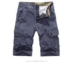 AFS JEEP Militer Casual Vintage Multi Kantong Celana Pendek Kargo Longgar Pantai Plus Ukuran Celana untuk Pria Abu-abu-Intl