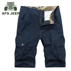 Afs Jip Militer Kasual Antik Multi Kantong Kargo Longgar Celana Pantai Plus Ukuran Celana untuk Pria Kerajaan-Internasional