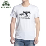 Beli Afs Jeep Musim Panas Pria Kerah Bulat Kapas Lengan Pendek T Shirt Putih Online