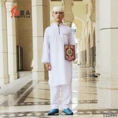 Anda BISA DAPATKAN Cotton Baju Melayu Cocok untuk Pria Kerah Berdiri dengan Bordir-Internasional