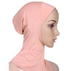 Agapeon Muslim Penuh Sarung Batin Jilbab Tutup Leher Bagian Dalam Khaki-Internasional