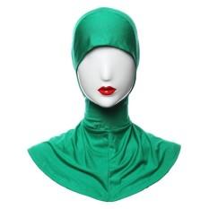 Agapeon Muslim Batin Jilbab Tutup Leher Bagian Dalam Penuh Sarung Hijau-Internasional