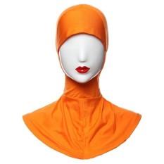Agapeon Muslim Batin Jilbab Tutup Leher Bagian Dalam Penuh Sarung Oranye-Internasional