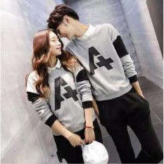 Agen Kaos Couple Lengan Panjang - Baju Pasangan- Kaos Kapel - Baju Kembar ( Coupel / Capel / Copel )