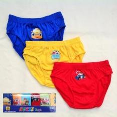 Agree Kids - 6 Pcs Celana Dalam Anak Laki2 - Warna Seri By Nimari Underwear.