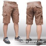 Beli Barang Ahf Celana Cargo Pendek Pria Cream Coklat Online