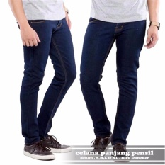 Jual Ahf Celana Jeans Pencil Slimfit Biru Tua Dongker Ahf Branded