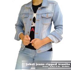 Ahf Jaket Jeans Ripped Wanita Bioblitz Indonesia Diskon