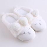 Obral Ai Home Plush Domba Wanita Lembut Sandal Dalam Cotton Sandal Anti Slip Sepatu Putih Intl Murah