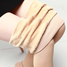 Harga Aijiniao Tambah Beludru Perempuan Pakaian Luar Celana Highwaist Legging Beige Baju Wanita Celana Wanita Oem Indonesia