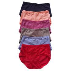 Beli Aily 239 Celana Dalam Wanita Polos Soft Cotton Nyaman 6 Pcs Multicolor Baru