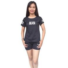Aily ALY008 Setelan Baju Tidur Wanita Celana Pendek Man Print