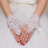 Model Aimandixinniang Renda Putih Pengantin Sarung Tangan Sarung Tangan Terbaru