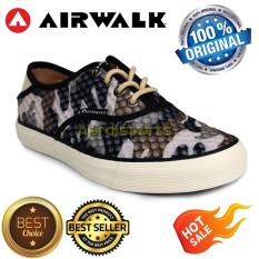 Sepatu Wanita Casual Sneaker Airwalk Hetal AIW16CVL2031 - Black Grey