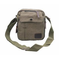 Diskon Produk Aitia Tas Selempang Pria Canvas Vintage Multifungsi Messanger Bag Hijau Army