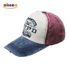 AIUEO Topi Pria Wanita Fashion Outdoors Unisex Letter Retro Fashion Vintage Caps Baseball Golf Cotton Adjustable Headpiece NYPD - Blue White Red