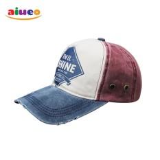 AIUEO Topi Pria Wanita Fashion Outdoors Unisex Letter Retro Fashion Vintage Caps Baseball Golf Cotton Adjustable Headpiece Shine - Biru Putih Merah