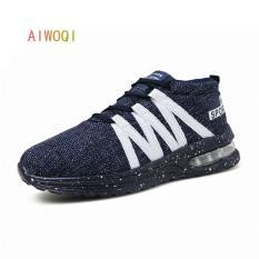 Spesifikasi Aiwoqi Air Men S Running Sepatu Biru Intl Merk Aiwoqi