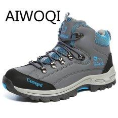 Aiwoqi Pria Wanita Daki Gunung Sepatu Kekasih Rendah Anti-Air Non-slip Sepatu Daki Gunung Luar Ruangan Pendakian Daki Gunung Sepatu untuk Pria Wanita -Internasional