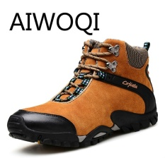 Ulasan Mengenai Aiwoqi Men Women Lover Low Waterproof Non Slip Hiking Shoe Outdoor Climbing Hiking Shoes For Men Women Intl