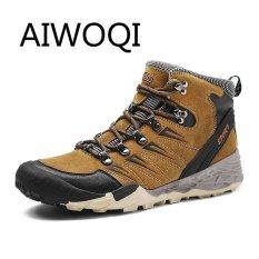 Aiwoqi Pria Wanita Kekasih Rendah Anti-Air Non-slip Sepatu Daki Gunung Luar Ruangan Pendakian Daki Gunung Sepatu untuk Pria Wanita-Internasional