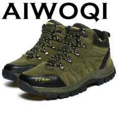 Aiwoqi Pria Wanita Rendah Anti-Air Non-slip Sepatu Daki Gunung Luar Ruangan Pendakian Daki Gunung-Internasional