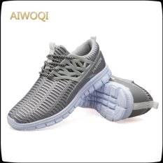 Harga Aiwoqi Pria Mesh Sneaker Mesh Sepatu Fashion Casual Sepatu Lace Up Shoes Intl Original