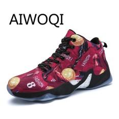 Aiwoqi Pria Wanita Klasik Profesional Terbaik Keranjang Sepatu Modis Cocok Pria Dapat Bersirkulasi Sepatu untuk Keranjang Menjalankan Sport Menjalankan Atletik sepatu Lari-Internasional