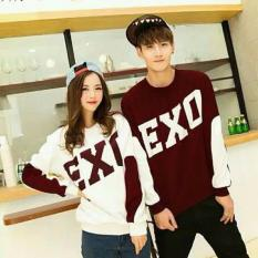 AK-308 Couple EXO - Maroon Spandek Print Akiko Fashion