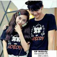 Beli Ak 308 Couple Nobody Black Spandek Soft Best Quality Akiko Fashion Di Dki Jakarta