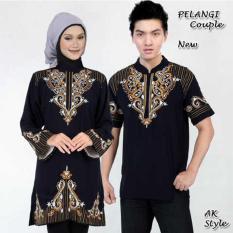Diskon Ak 329 Pelangi Black Couple Combi Bordir Akiko Fashion Akiko Di Dki Jakarta