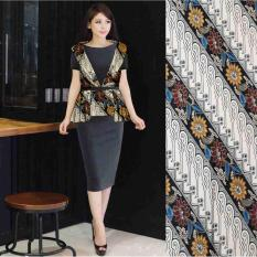 Harga Ak Dress Meiny Batik Black Wolpeach Combi Batik Best Quality Akiko Fashion Paling Murah