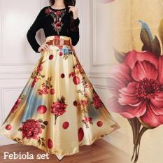 AK - Fabiola Set( Atasan+Rok ) -Yellow + belt Akiko Fashion