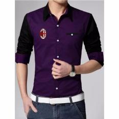 AK - Kemeja Pria AC Milan - Purple Akiko fashion