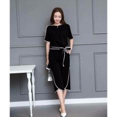 Jual Ak Stelan Molly Set 2In1 Black Atasan Celana Akiko Fashion Online Dki Jakarta